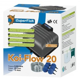 BOMBA DE AR Koi FLOW 20 1200 L/H KIT AIR