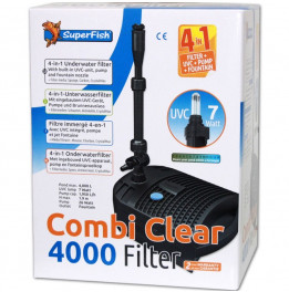 FILTRE SUPERFISH COMBI CLEAR 4000 - UVC 7W - POMPE 2000L/H