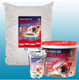 Alimento Ichi Food Excellent 15 Kg de 6 mm para carpas Koi e peixes